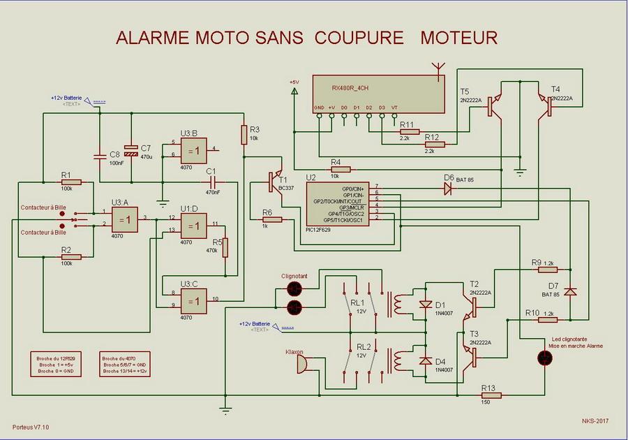 alarme moto sans batterie
